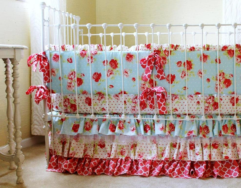 Image of: Shabby Chic Baby Girl Bedding Choose Shabby Chic Crib Bedding Home Design Cute Elephant Baby Girl Bedding Theme