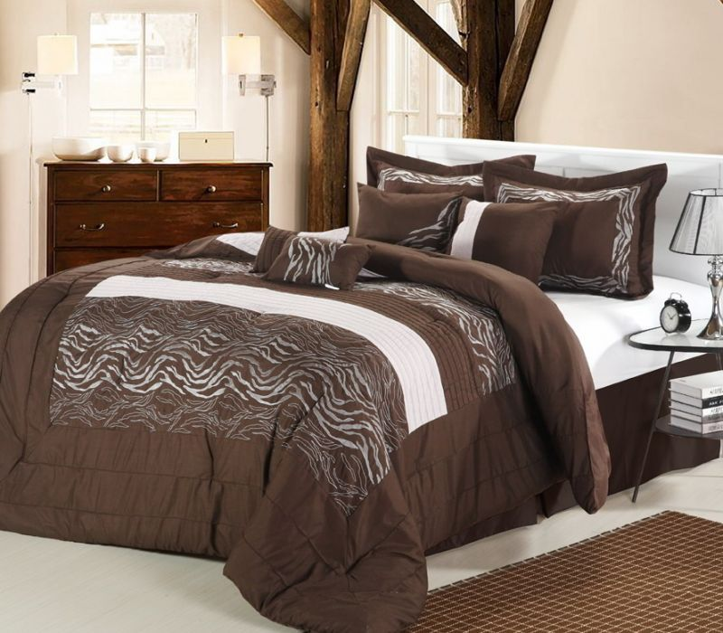 Image of: Solid Brown Queen Comforter