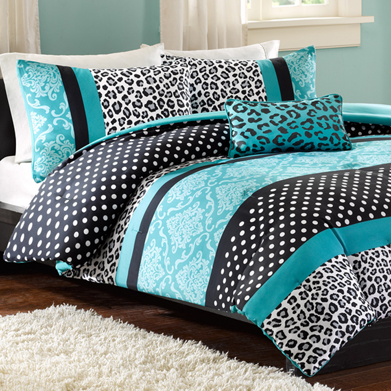 Image of: Teal Bedding Queen Set