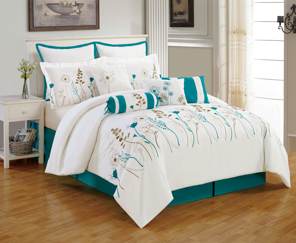 Image of: Teal Design Bedding Sets