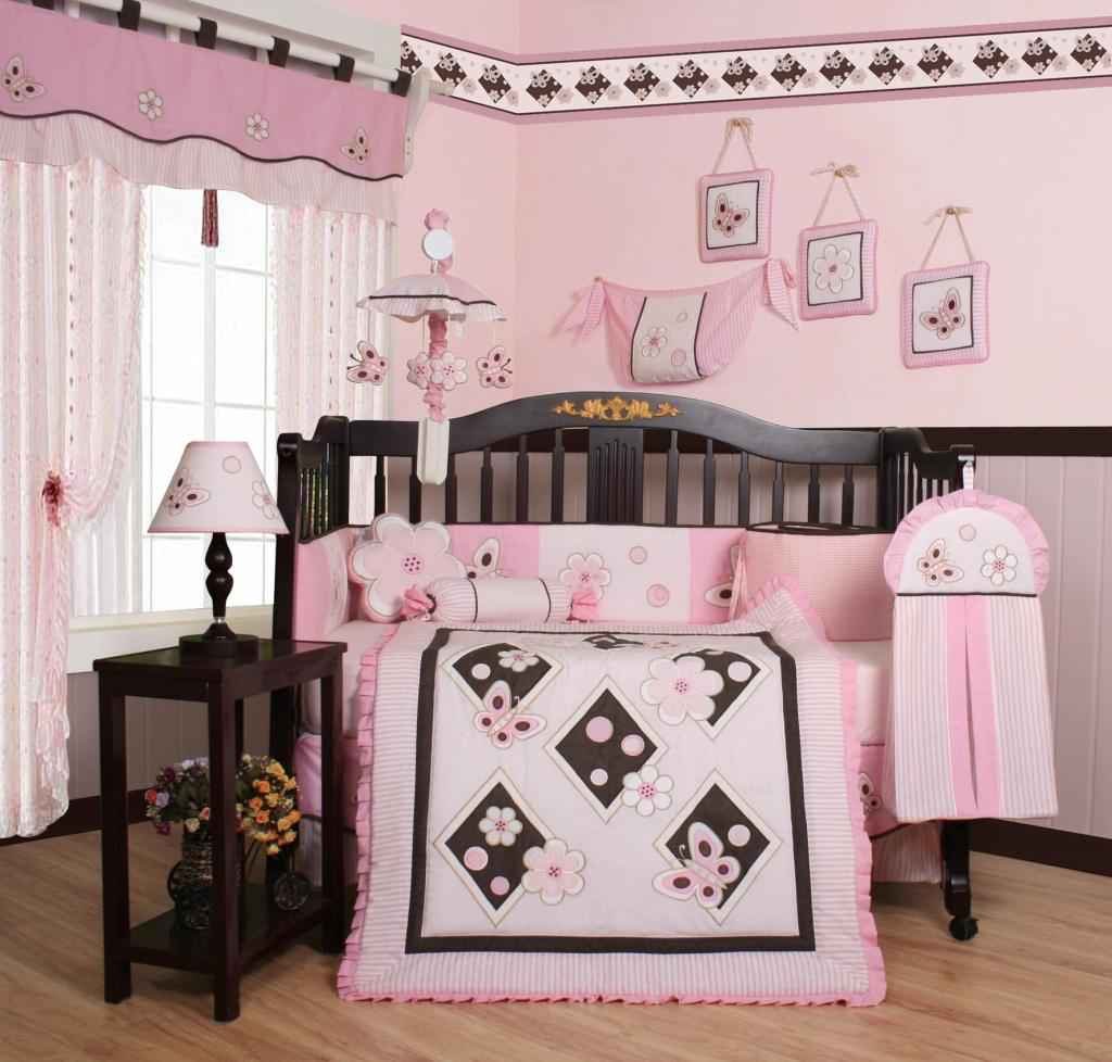 Image of: The Best Pink Crib Bedding for Girls