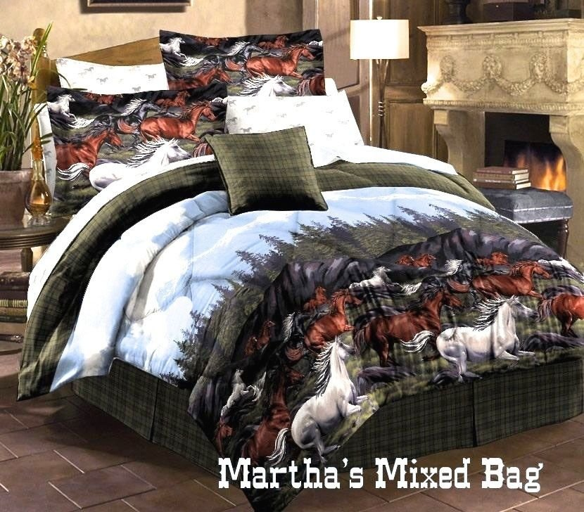 Image of: Twin Horse Bedding Shoppinder Unique Horse Themed Bedding Sets For Children