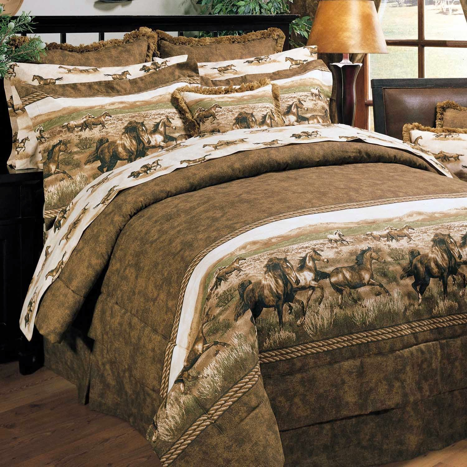 Image of: Western Comforters With Horses
