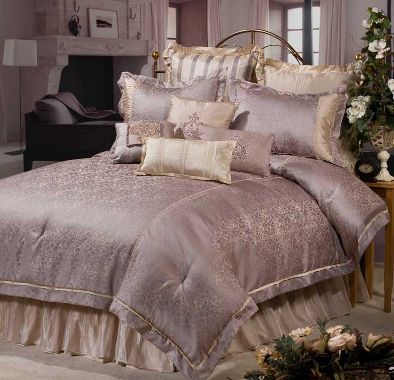 Image of: Wisteria Bedding Ensemble Veratex Tips Decorate Elegant Bedding Sets Personalized