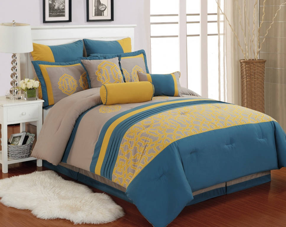 Image of: Yellow And Blue Bedding