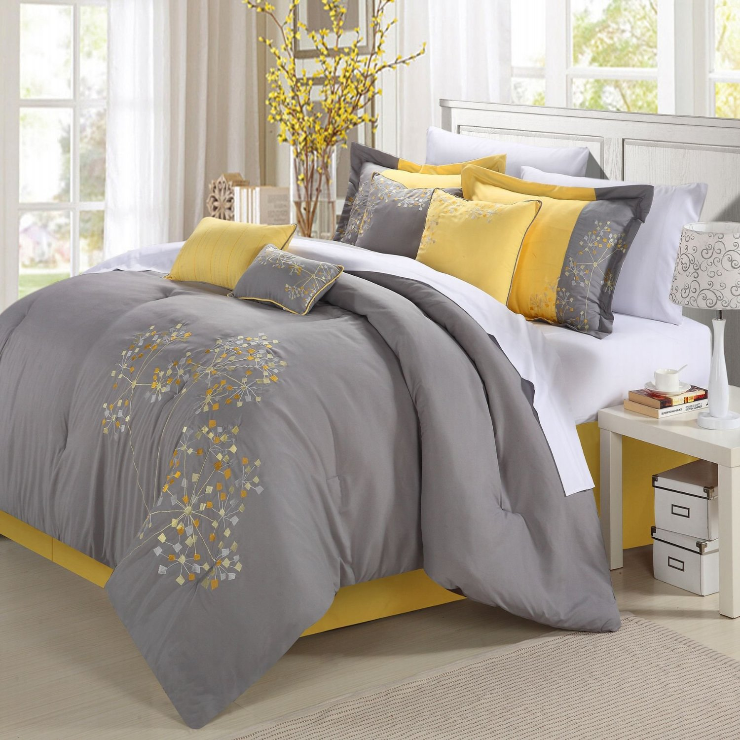 Image of: Yellow and Grey Comforter Target