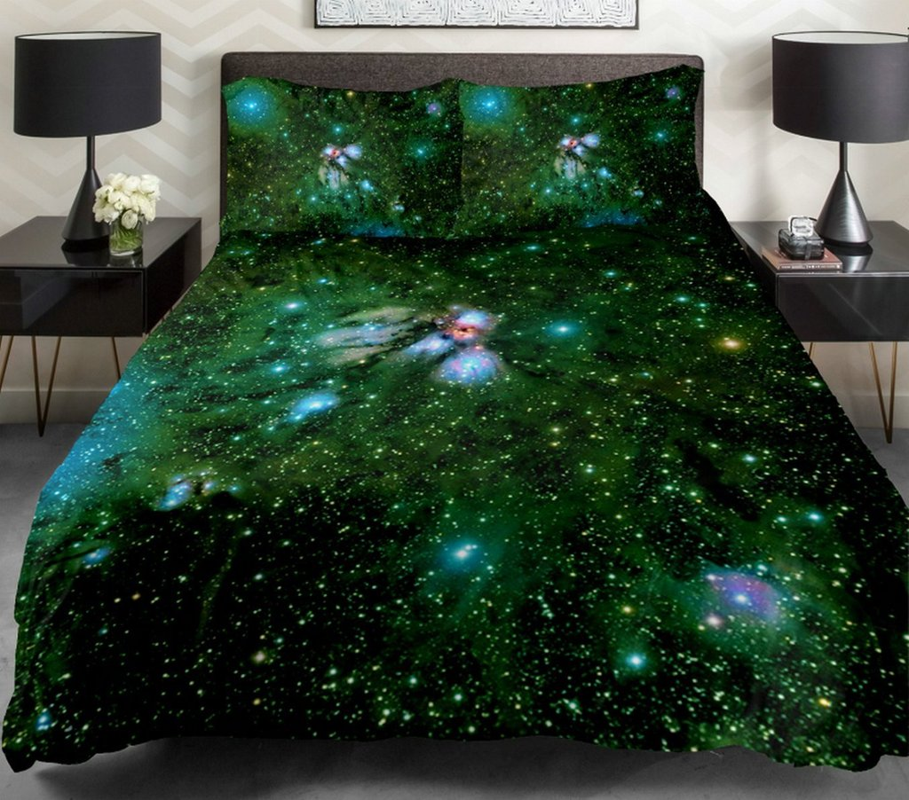 Image of: 14 Amazing Galaxy Bedding Set Outer Space Bedding Galaxy Bed Set Queen Themed