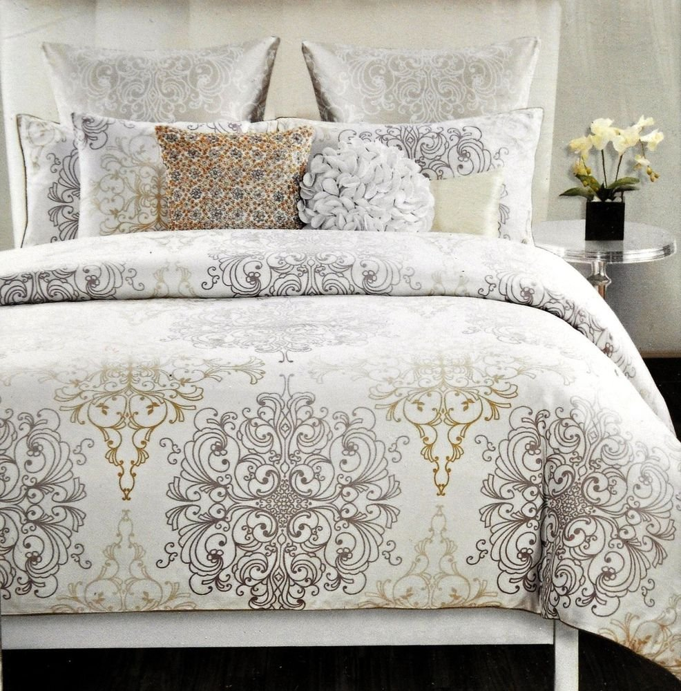 Image of: 39 Tahari Home 39 King Duvet Cover Set 300 Thread Count Galaxy Bed Set Queen Themed