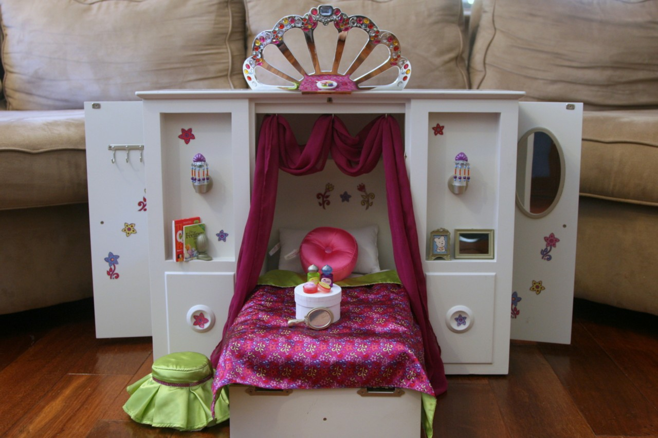 Image of: American Girl Doll Bed Diy
