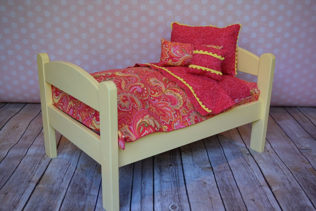Image of: American Girl Doll Bed Yellow Pink Fun Ideas Doll American Girl Bed Set