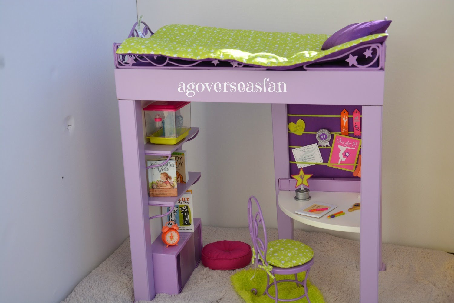 Image of: American Girl Doll Bunk Bed