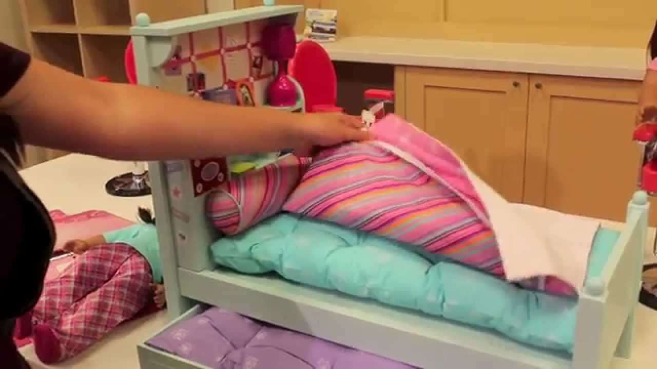 Image of: American Girl Doll Trundle Bed