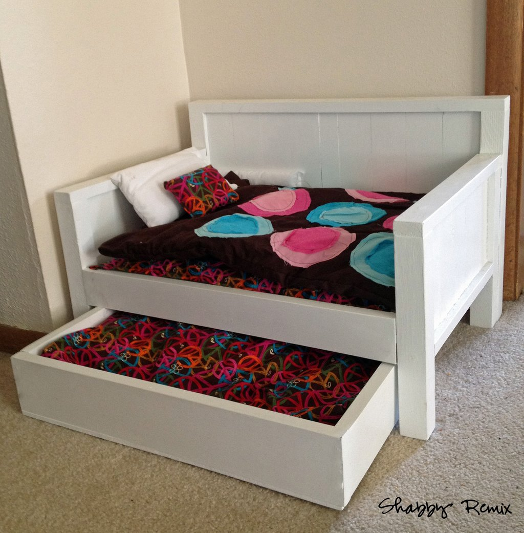 Image of: Ana White American Girl Doll Trundle Day Bed Diy Project Fun Ideas Doll American Girl Bed Set
