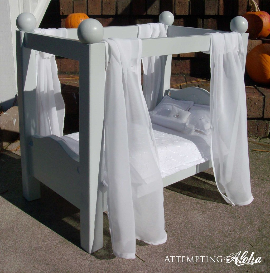 Image of: Ana White Canopy Doll Bed American Girl 18 Quot Doll Diy Project Fun Ideas Doll American Girl Bed Set