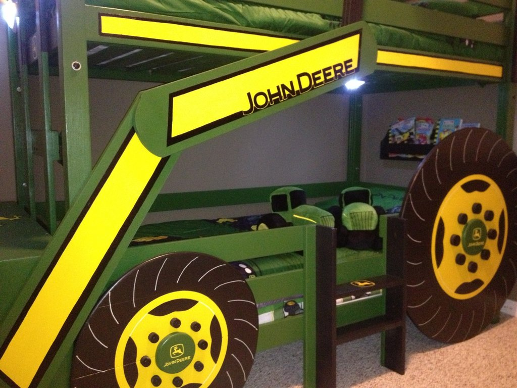 Image of: Ana White John Deere Tractor Bunk Bed Diy Project Short Article Reveals The Undeniable Facts About John Deere Bedding And How It Can Affect You