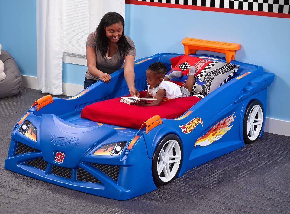 Image of: Blue Car Bed