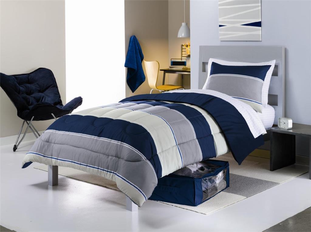 Image of: Blue Comforter Sets Twin
