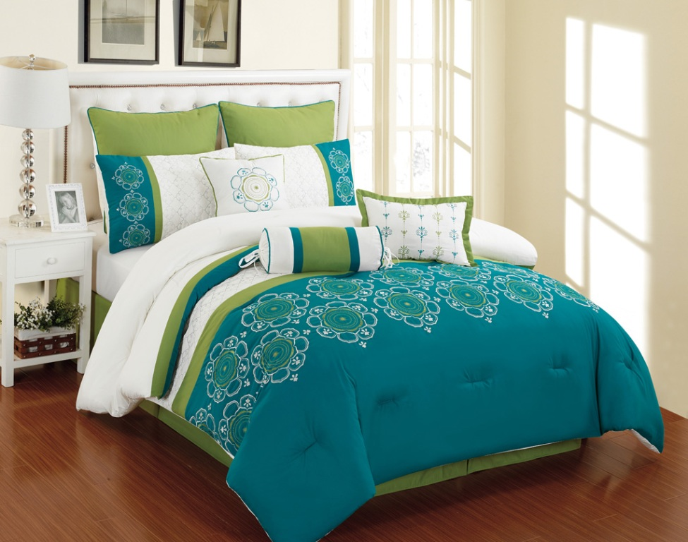 Image of: Blue Twin Bed In A Bag