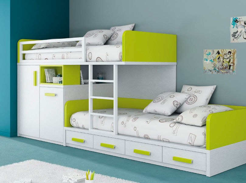 Image of: Bunk Bed Sets With Mattresses