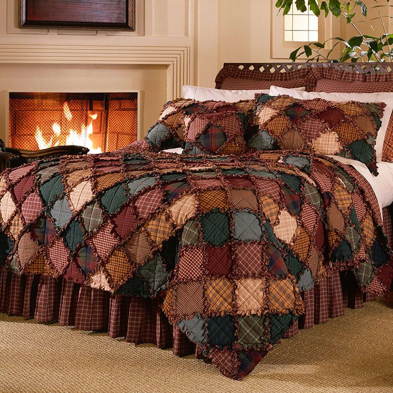 Image of: Campfire Quilt Newest Trends Decoration Country Bed Sets