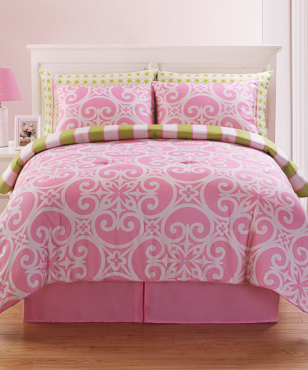 Image of: Cheap Solid Pink Comforter