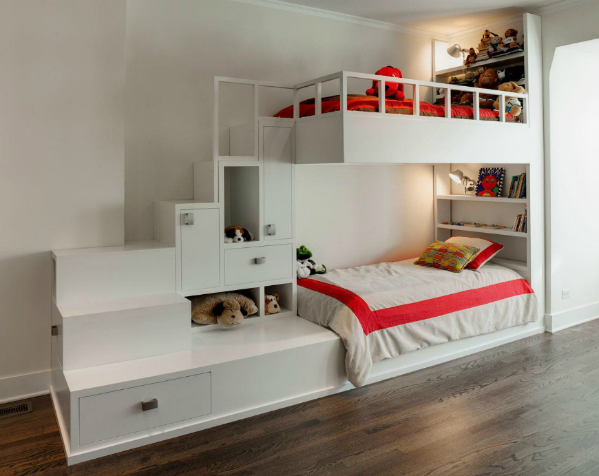 Image of: Cool Bunk Beds With Desk