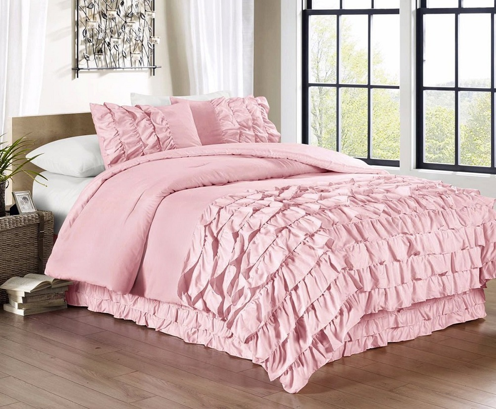 Image of: Cool Pink And Turquoise Comforter