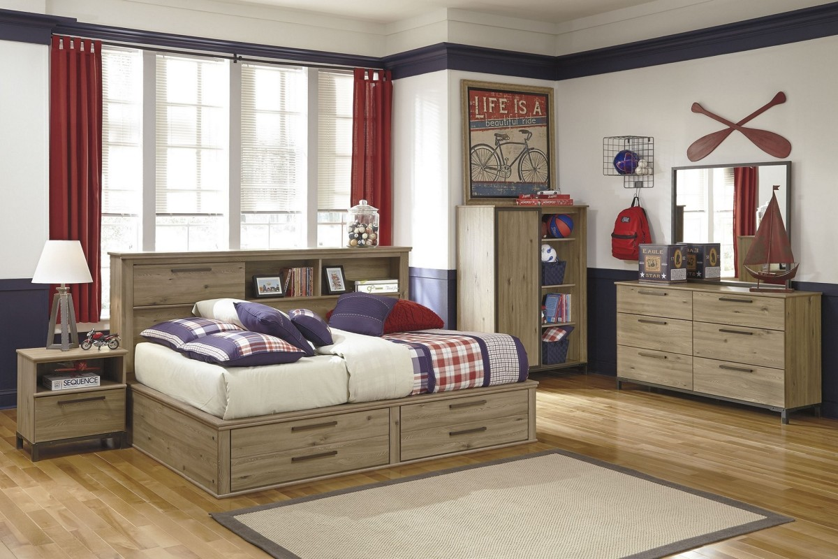 Image of: Corner Twin Bed Unit