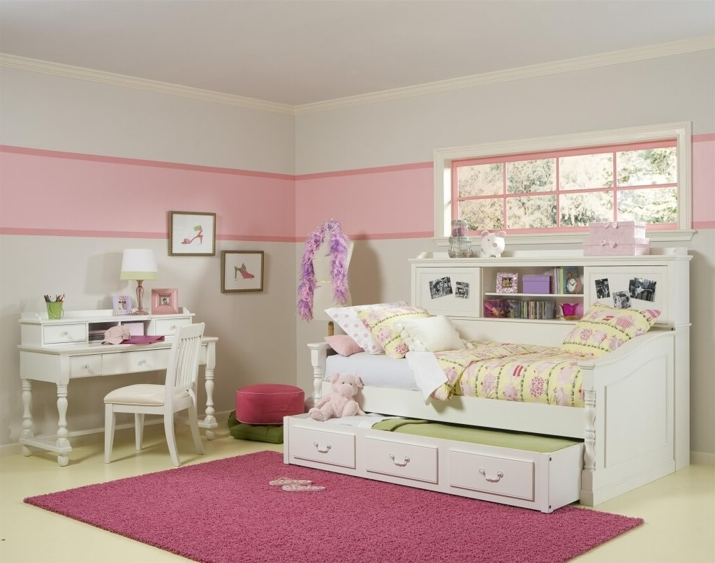 Image of: Corner Twin Bed With Storage