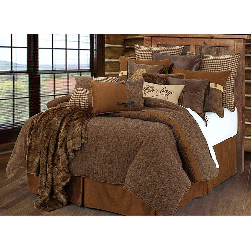 Image of: Crestwood Rustic Cowboy Western Comforter Set Romantic Interior French Country Bedding Sets