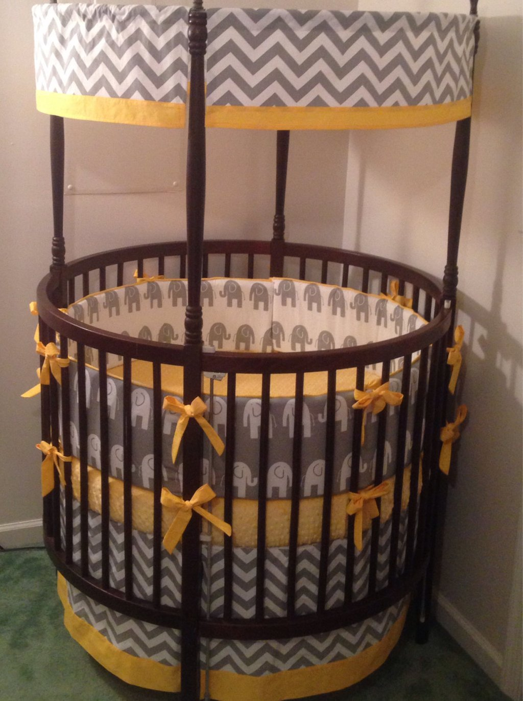 Crib Bedding Set Gray Elephant Choice Accent The True Meaning Of Round Crib Bedding