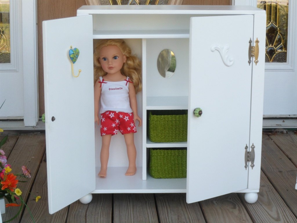 Image of: Doll Armoire Wardrobe 18 Dolls Fun Ideas Doll American Girl Bed Set