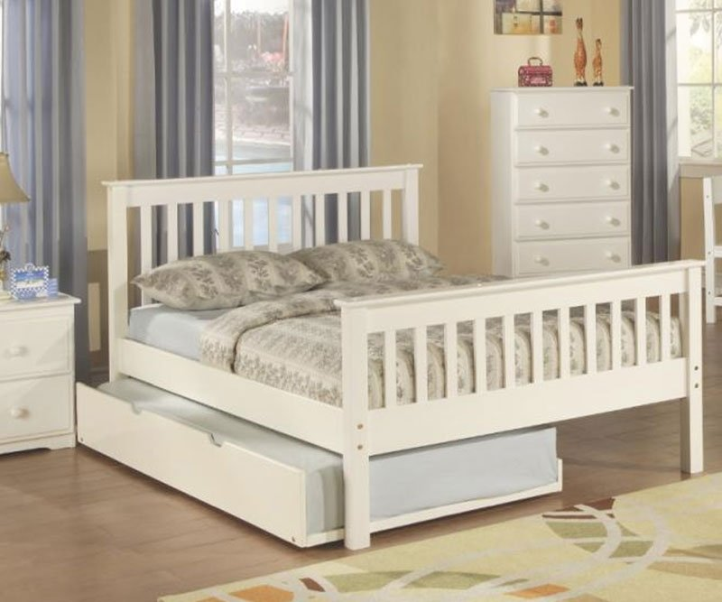Image of: Donco Trading Monaco Full Size Bed Trundle Double Create Cozy Corner Twin Bed Set