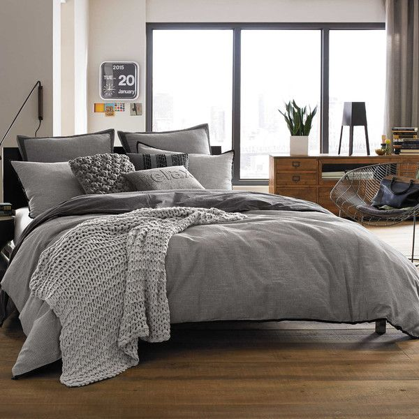 Image of: Fraser Grey Bedding Set Double