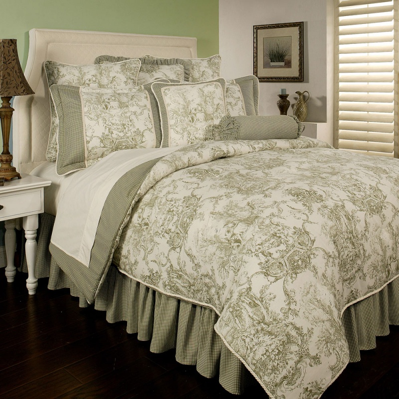 Image of: French Country Bedding Red