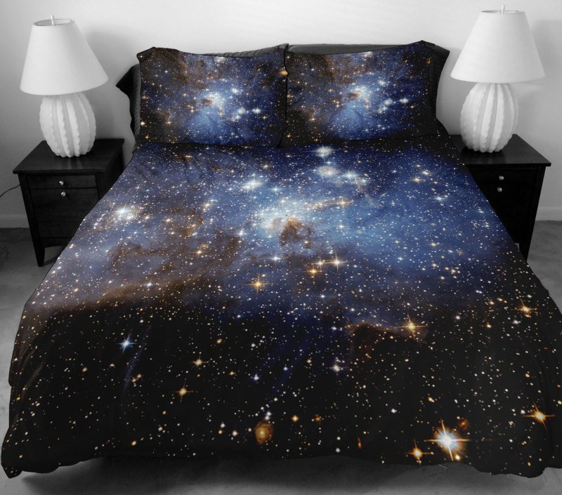 Image of: Galaxy Bedding Set Side Printing Galaxy Twin Tbedding Galaxy Bed Set Queen Themed