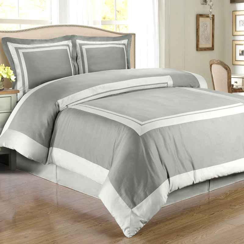 Image of: Gray and White Bedding Set