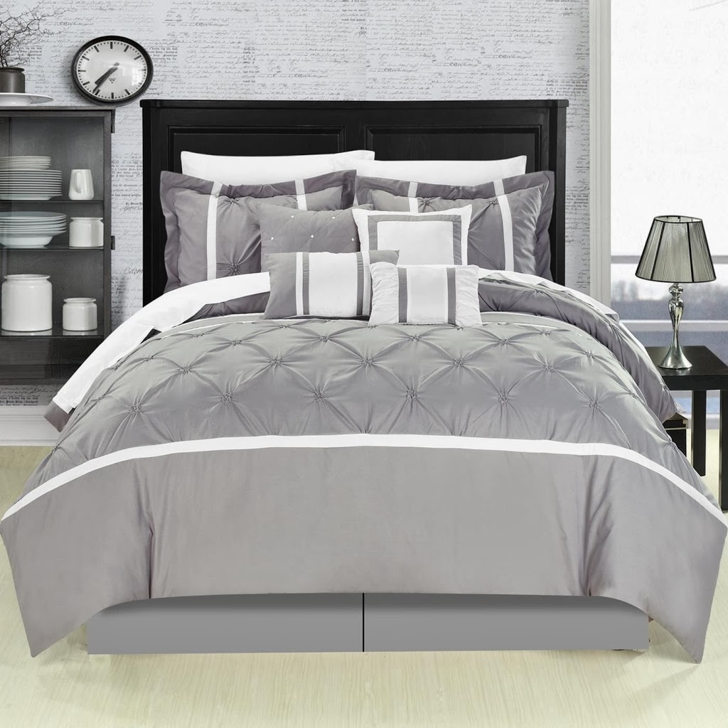 Image of: Gray Crib Bedding Set