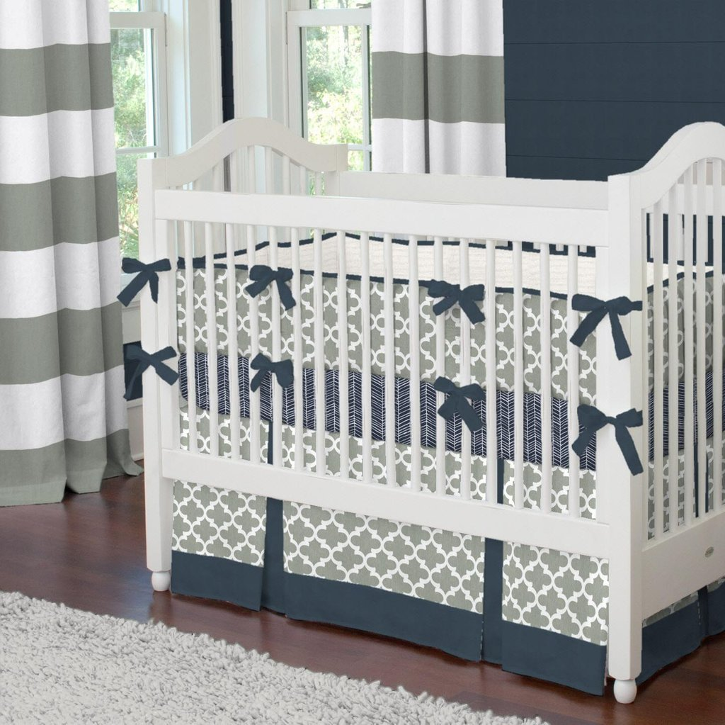Image of: Gray Navy Crib Bedding 28 Image Navy Gray How to Design Gray Bedding Set
