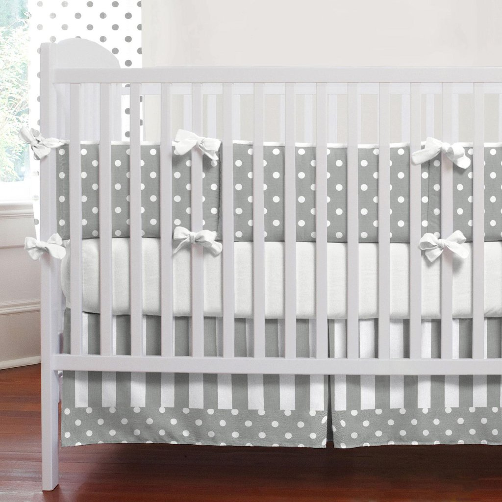 Image of: Gray White ripe Crib Bedding Neutral Baby Bedding Carousel Design Gray and White Bedding Sets for Babies and Toddlers