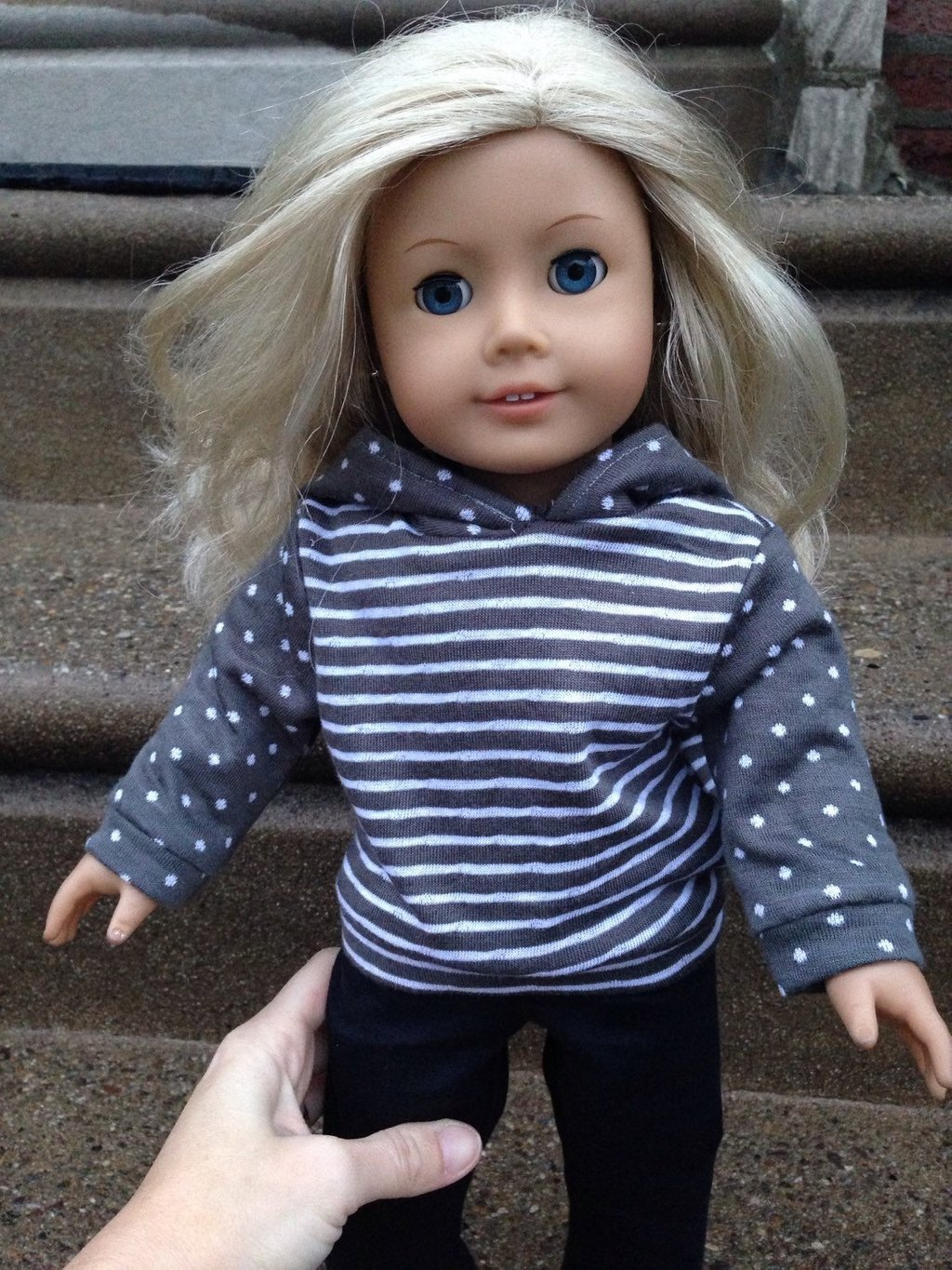 Image of: Handmade Doll Clothe Hoodie Sweatshirt 18 Doll Fun Ideas Doll American Girl Bed Set