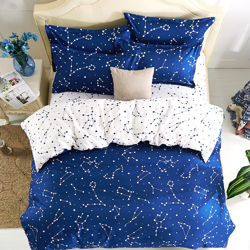 Image of: Hipster Galaxy Beddig Set Universe Outer Space Themed Galaxy Bed Set Queen Themed