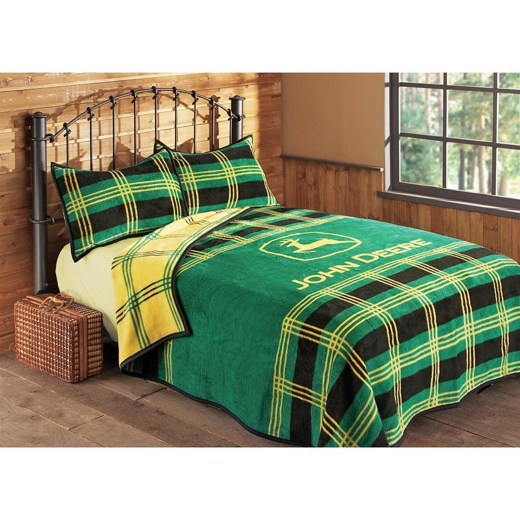 Image of: John Deere Plaid Bed Blanket 106932 Quilt Short Article Reveals The Undeniable Facts About John Deere Bedding And How It Can Affect You