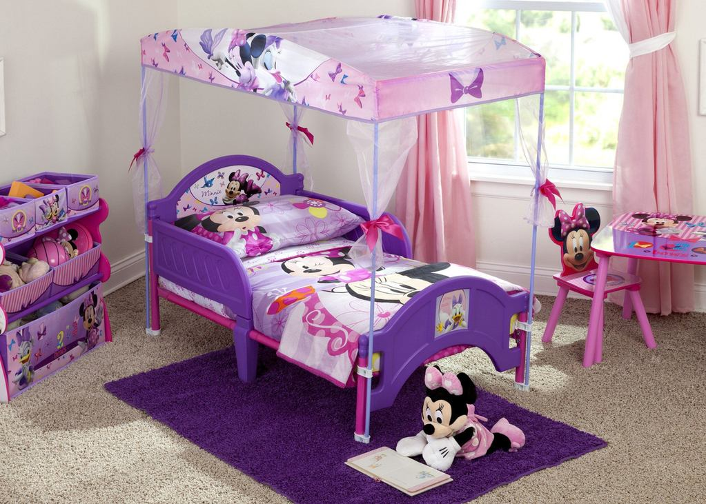 Image of: Minnie Mouse Toddler Canopy Bed