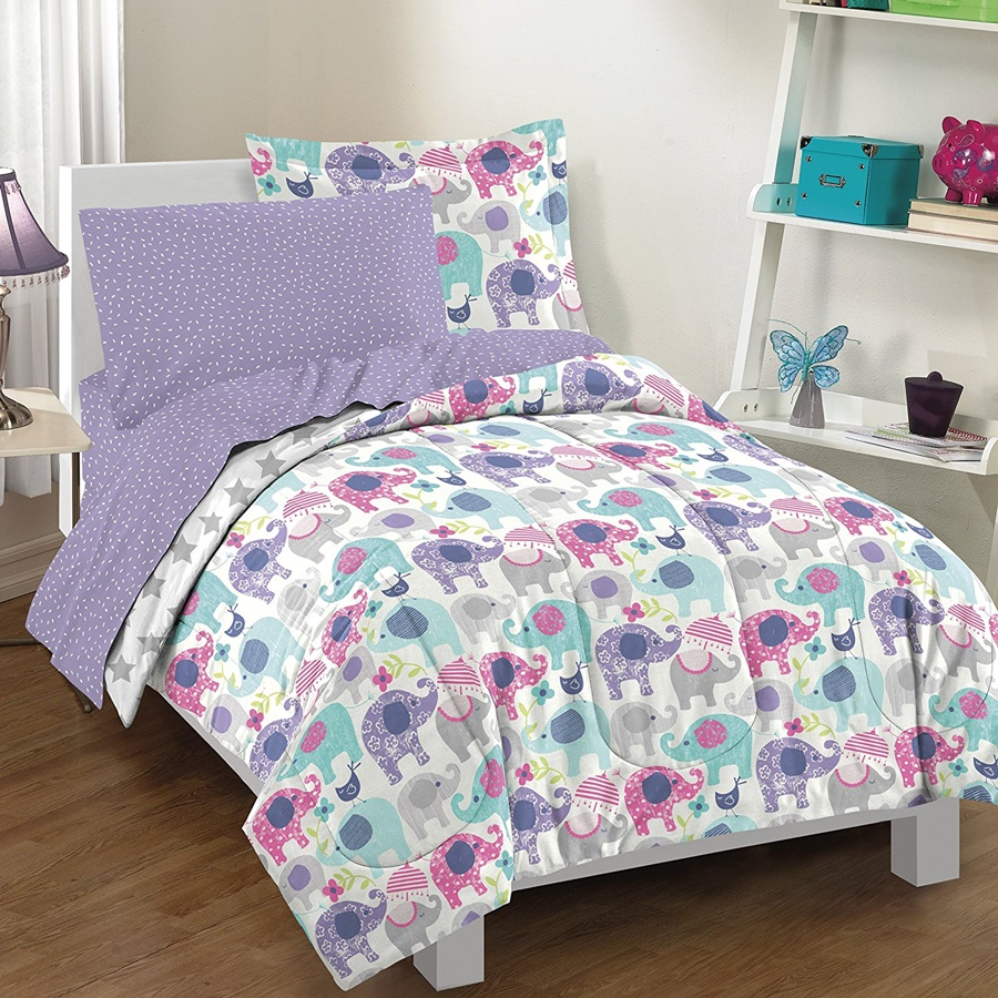 Image of: Purple Twin Bedding Sets