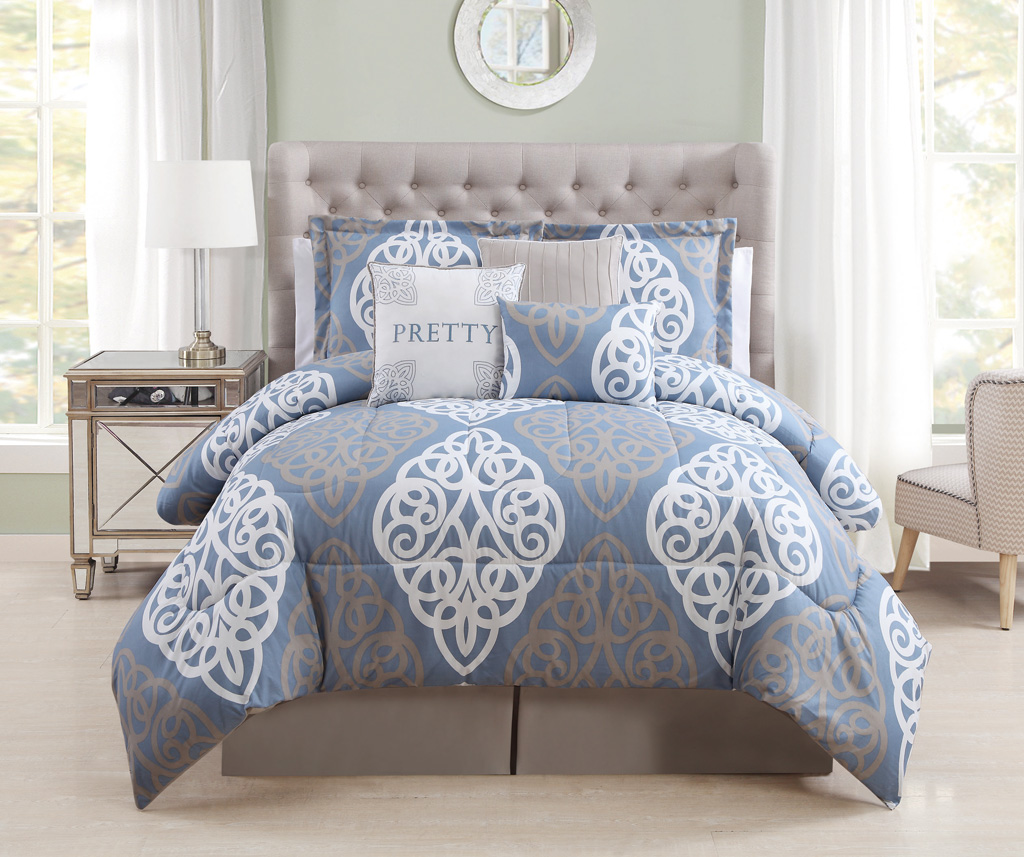 Image of: Queen Bedding Sets Blue