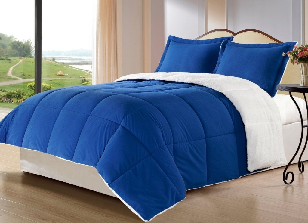 Image of: Royal Blue Twin Bedding Set