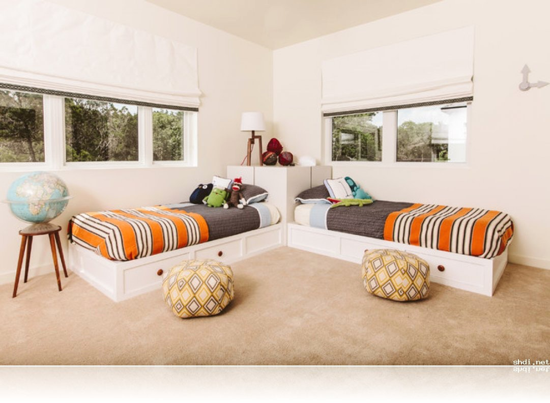 Image of: Shared Corner Beds With Storage