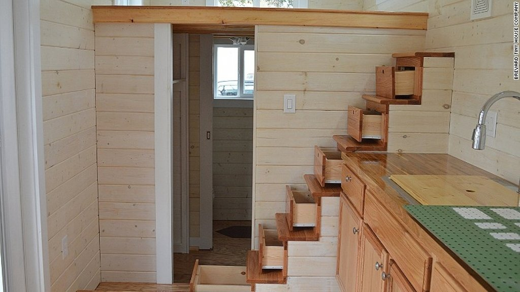 Image of: Space Saving Staircases Grid Tiny House Home Tiny Galaxy Bed Set Queen Themed