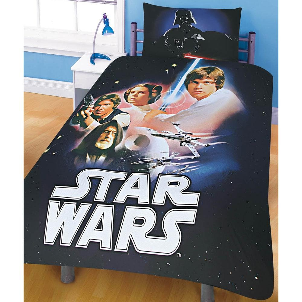 Image of: Star War Double Duvet Cover Pillowcase Bedding Star Wars Bed Set Ideas